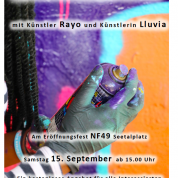 Graffitiworkshop an der Eröffnung von N49 am Seetalplatz