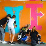 Graffiti-Workshop mit zwei Klassen vom Gersag-Schulhaus