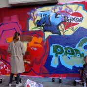 Graffitiworkshop an der Hall of Fame Schwanderhof