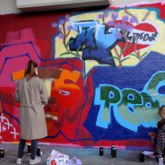 Graffitiworkshop an der Hall of Fame Schwanderhof
